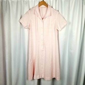 1950s Unlabeled Pale Pink Shift Dress